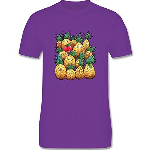 Comic Shirts - Süße Ananas Party - Herren Premium T-Shirt Lila