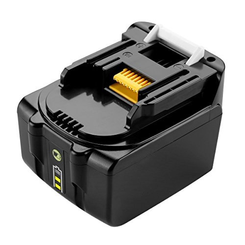 URUN 14,4 V 3,0 Ah Lithium-Ionen-Akku mit LED-Batterieanzeige Ersatz für makita BML146 DML805 ML140 ML143 DML802 Batterielampe DCL142Z Staubsauger DDF343 Bohrschrauber DDF446Z DDF448Z Akkuschrauber