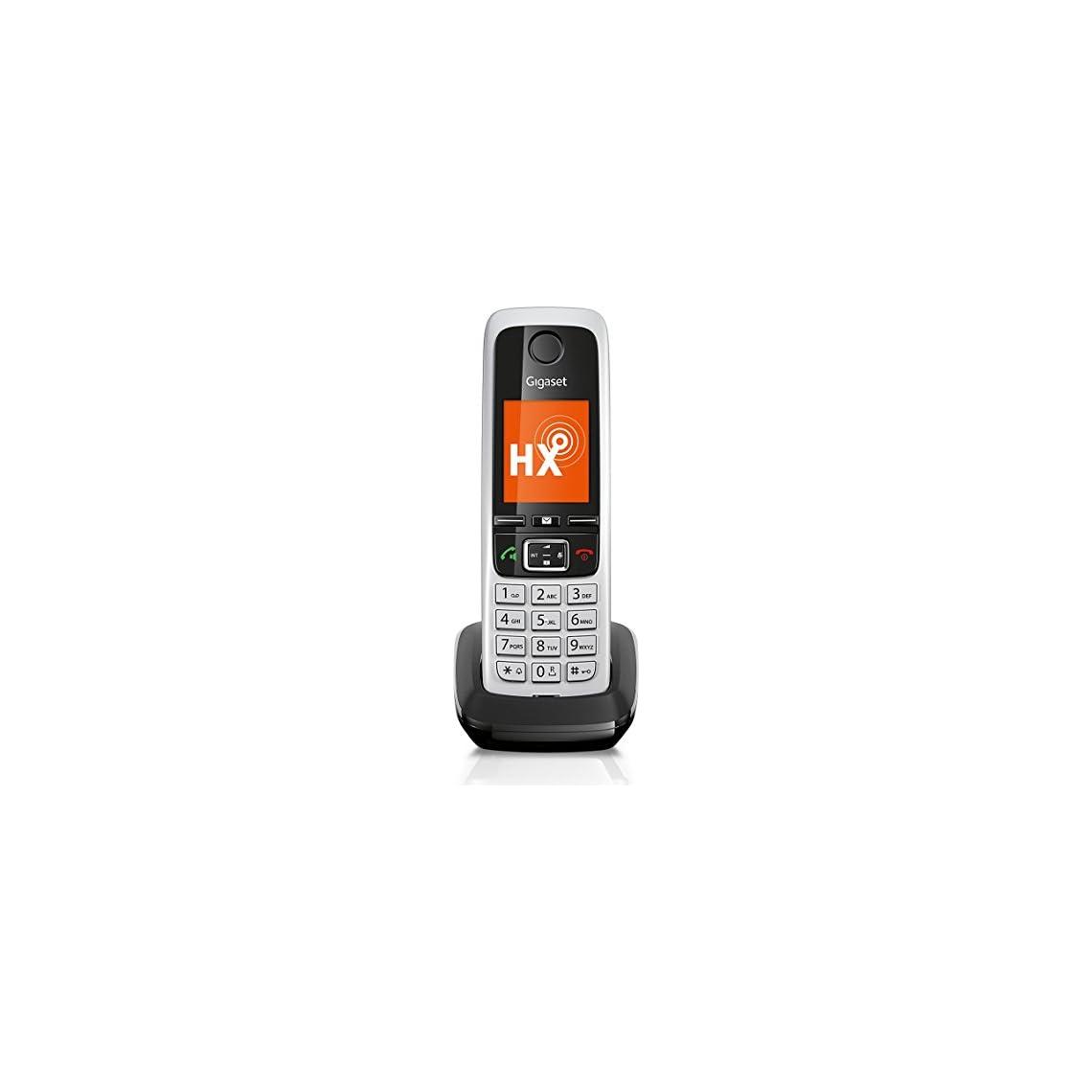 41dTBxmxkFL. SS1140  - Gigaset C430HX DECT-/VOIP Schnurlostelefon schwarz/Silber
