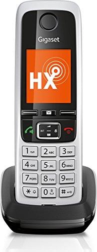 Gigaset C430HX DECT-/VOIP Schnurlostelefon (IP Telefon Fritzbox kompatibel, ein Universal-Mobilteil mit TFT-Farbdisplay) schwarz/silber
