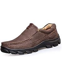 WSK Scarpe da uomo in cotone Scarpe da trekking outdoor Scarpe da trekking con tomaia in pelle con strato superiore antiscivolo Scarpe da uomo sportive antiscivolo e in velluto,…