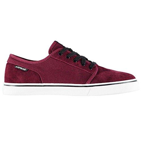 Original-Schuhe Airwalk Tempo 2Skate-Schuhe Herren Skateboarding Sportschuhe Sneaker Turnschuhe, burgunderfarben, (UK10.5) (EU44.5) (US11.5) Skate Sneaker Schuhe