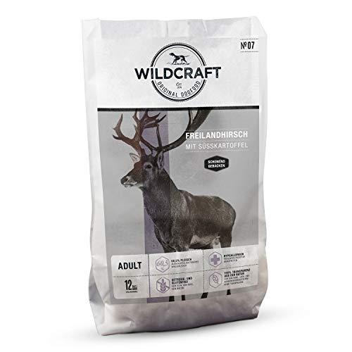 Wildcraft | 24 kg | Trockenfutter für Hunde | getreidefrei | Freilandhirsch mit Süßkartoffel | Monoprotein | Hoher Fleischanteil | Schonend gebacken