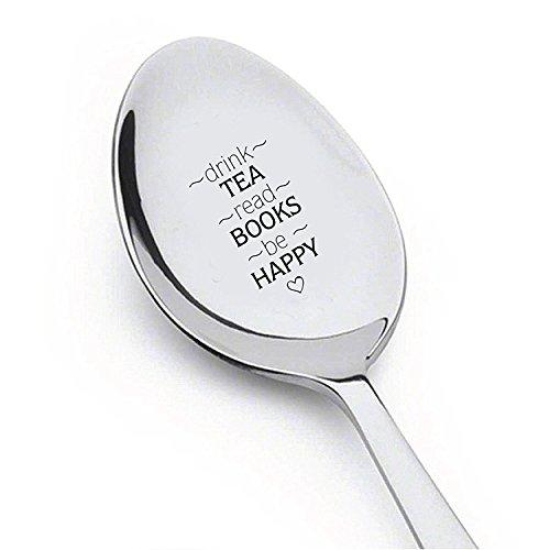 Drink Tea Lesen Buch spoon- Tea Time Me Time–Nutella–Müsli Killer Löffel–My Peanut Butter Löffel mit zwei Little Heart–keine Suppe für Sie. Suppe Löffel–Hund Lover 's Löffel