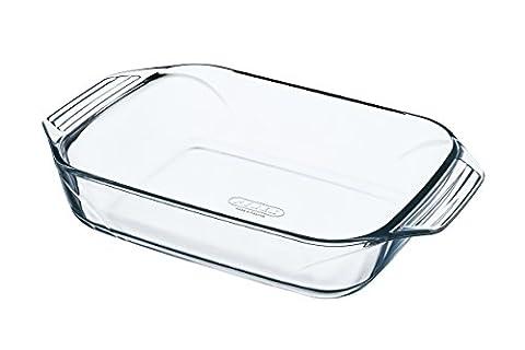 Pyrex - 8010660 - Optimum - Plat à four rectangulaire en verre ultra résistant - 28x17 cm