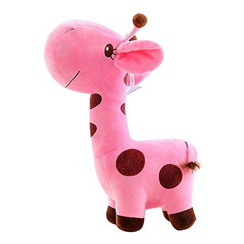 Eizur Cute Giraffa Morbido Peluche Giocattoli Animal Bambole capretto bambino Christmas Regalo di Natale Festa di compleanno Taglia 25cm--Rosa - Natale Mouse Story