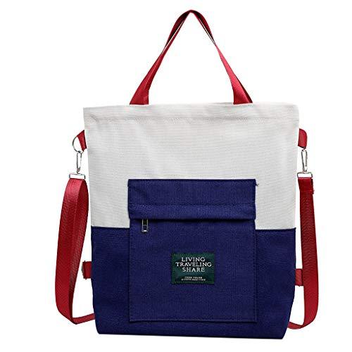 BfmyxgsFrauen Umhängetasche Rucksack Dual-Use-Canvas-Tasche Studententasche Handtasche Canvas Living Travelling -