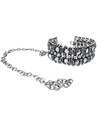 KARA TIQUE Oxidised German Silver Necklace Choker for Women and Girls