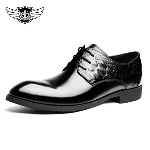 Desai-Mens-Business-Casual-Formal-shoes-Lace-Up-Genuine-Leather-Derby-shoes