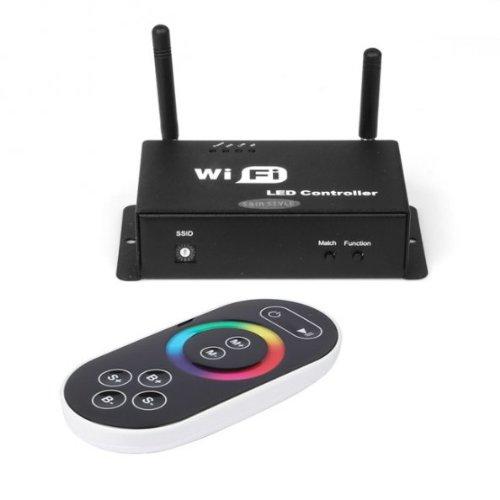 NUEVO controlador LW de 11WiFi WLAN Tiras LED RGB con Mando a distancia para SMART PHONE iOS Android Sistema * Negro *