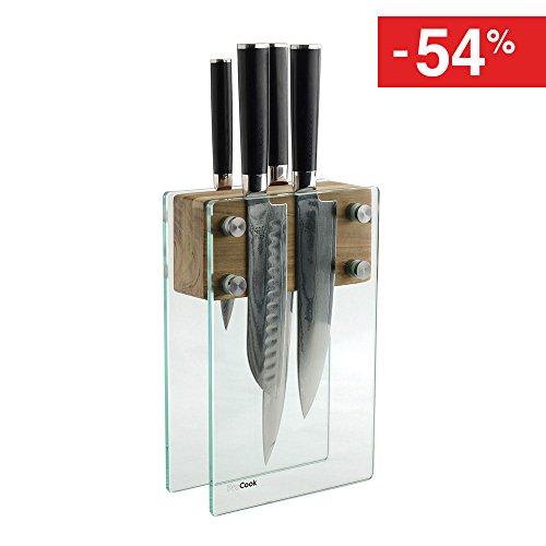 procook-x100-vg10-damascus-set-de-couteaux-en-acier-damas-4-pieces-avec-couteau-santoku-et-bloc-en-v