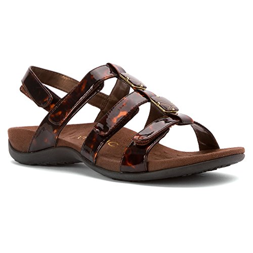 Vionic Womens 44 Amber Rest Synthetic Sandals Tortoise