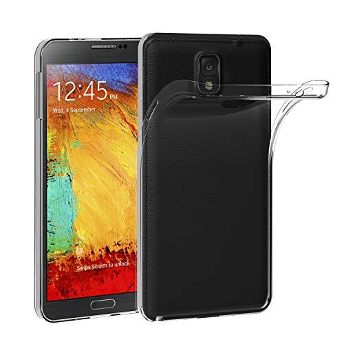 iVoler Compatibile con Cover Samsung Galaxy Note 3, Silicone Case Molle di TPU Trasparente Sottile Custodia
