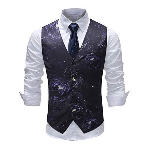 YaXuan Herren Anzug Weste, Business Männer Klassische Slim Fit Weste Lässige Sleeveless Abendgarderobe Hochzeit Gilet Kostüm Homme (Farbe : 1, Größe : M)