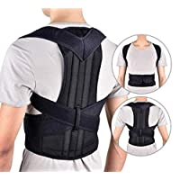 Sports bra Male and female spine correction, Posture Corrector Spinal SupportBreathable Adjustable Back Braces,Black,XXXXL (Color : Black, Size : Large)