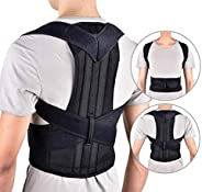 Sports bra Male and female spine correction, Posture Corrector Spinal SupportBreathable Adjustable Back Braces,Black,XXXXL