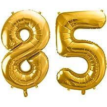 Luftballon Zahl 35cm 86cm XXL Folienballon Geburtstag Alter Silvester Dekoration