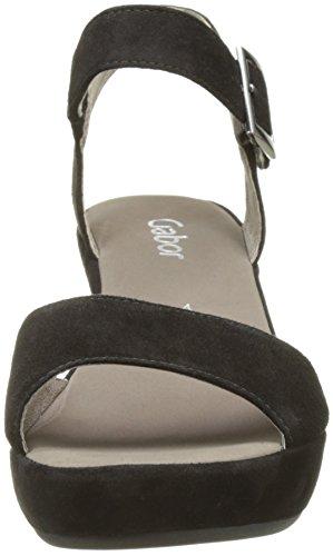 Gabor Shoes 65.751, Sandali con Tacco Donna Nero (schw.ohne Strass)
