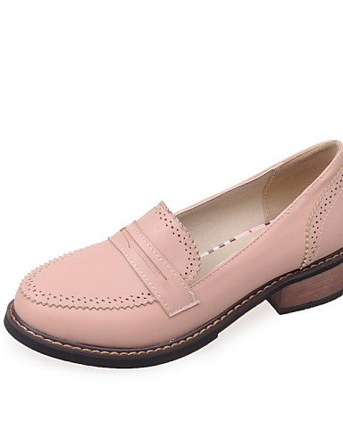 ZQ gyht Scarpe Donna-Mocassini-Casual-Punta arrotondata-Basso-Finta pelle-Nero / Rosa / Beige , pink-us10.5 / eu42 / uk8.5 / cn43 , pink-us10.5 / eu42 / uk8.5 / cn43 beige-us9.5-10 / eu41 / uk7.5-8 / cn42