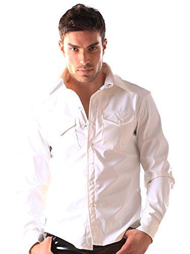 Preisvergleich Produktbild Weisses PVC Shirt Größe M