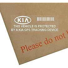 Platinum Place - Pegatina para coche con advertencia de seguimiento por GPS (5 unidades,