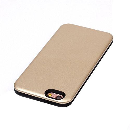 Pour iPhone 6 Plus / 6s Plus, TPU + Housse de protection en combinaison combinée PU JING ( Color : Purple ) Gold