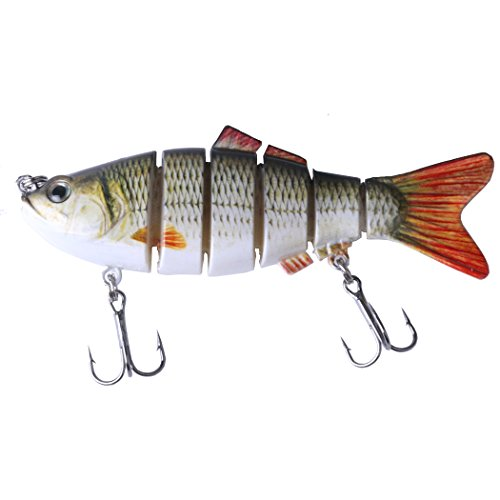 hengjia 10,2 cm Multi Jointed Bass Pike Angelköder Swimbait lebensecht Shad Minnow