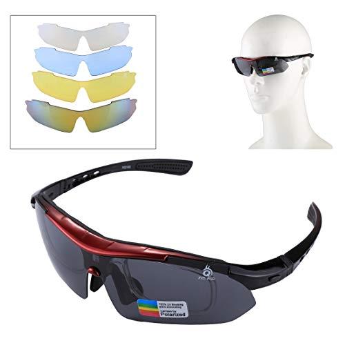 VAXT Target UV400 Schutz-Sport-Sonnenbrille für Schießen, Radfahren, Skifahren, Golf