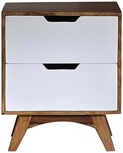 SIT-Möbel 7759-10, Comodino Sixties, 50 x 40 x 60 cm, Marrone (Braun)