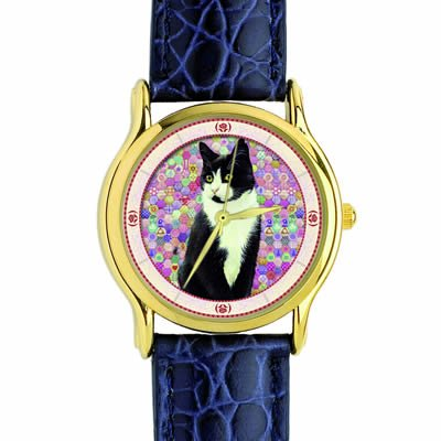 lesley-anne-ivory-black-and-white-cat-watch-chesterton-on-pink-hexagons