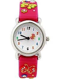 3D Lovely Cartoon Children Watch Silicone Strap Waterproof Digital Round Quartz Wristwatches Time Te Montre AB-122