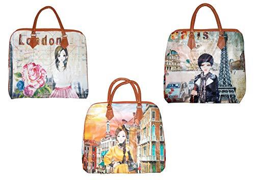 Kotak-Sales-Stylish-Women-Duffle-Bag-Digital-Printed-Elegant-Handheld-Hobo-Shopping-Travel-Carry-Hand-Shoulder-Bag-Gift-Return-Gift-for-Birthday-Party-Festival-Occasion-Set-of-3-Pcs