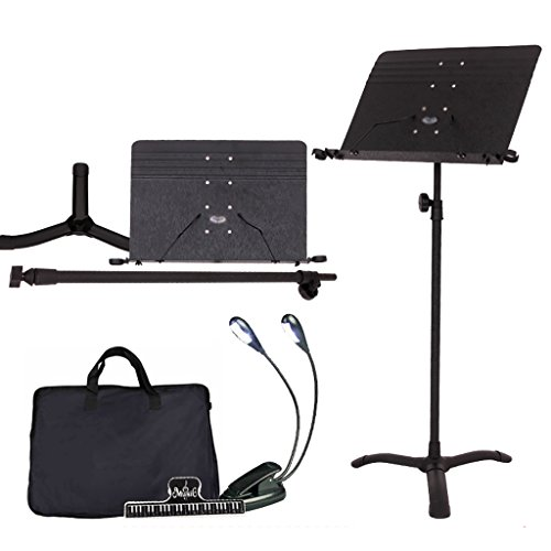 ZXWDIAN Reading frame Height 70-170cm Adjustable Black Sheet Music Stands -With Microphone Stand For Any Musician File holder (color : Style2)