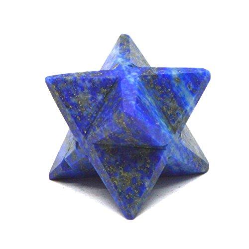 Healing Crystals India gemma naturale mano 12Point Merkaba con certificato di autenticità e cristalli eBook (Healing Gemma Di Cristallo)