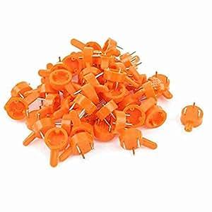 Miki & Co 50x Orange base ronde montage mural Cadre Photo Assiettes pour vernis à ongles