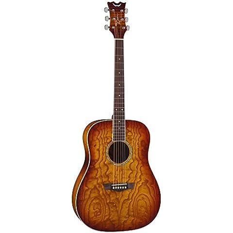 Dean Guitars AX DQA TSB AXS serie Dreadnought-Chitarra acustica, colore: cenere