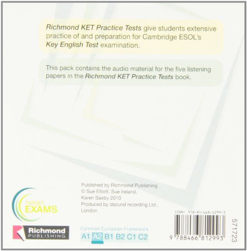 Cd Ket Cd1 Practice Tests 1 And 2 Richmond (Richmond Exam Practice Tests) - 9788466812993