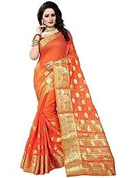 [Sponsored]Nine Street Store Women's Tussar Silk Saree Kanchipuram Style (Latest Designer Sarees /Party Wear Sarees /New...