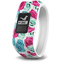 Garmin Vivofit Jr. Daily Activity Tracker for Kids - Real Flower (White with Flower Pattern)