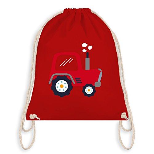 Fahrzeuge Kind - Kinder Traktor - Unisize - Rot - WM110 - Turnbeutel & Gym Bag