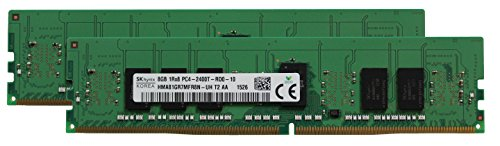 Hynix Original 16 GB (2 x 8 GB) Server Speicher-Upgrade für HP Z440 Workstation DDR4 2400 MHz PC4-19200 ECC Registered Chip 1RX8/Tablettenspeicher 1,2 V -