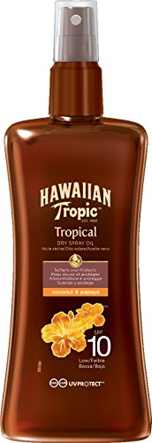 Hawaiian Tropic Protective Dry Spray Oil LSF10, 200 ml