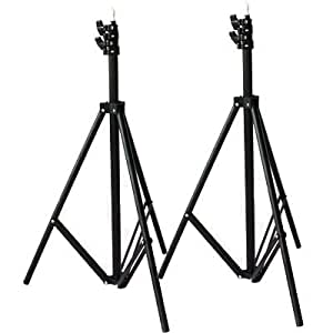 PMS 2 x Studio 200cm Pied d'éclairage Support de Fond Pied Photo Lampe Eclairage pour HTC Vive VR Youtube Video Photographique