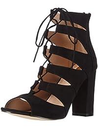 La Strada Black Suede Leather Look Sandal - Sandalias Mujer