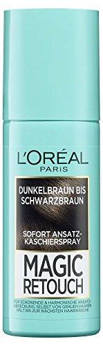 L'Oréal Paris Magic Retouch Ansatz-Kaschierspray, Dunkelbraun bis Schwarzbraun, 1er Pack (1 x 75 ()