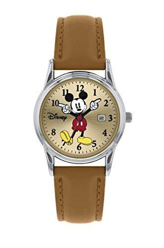 Disney MK5373 - Reloj analógico de Cuarzo con Correa de Piel, diseño de Mickey Mouse