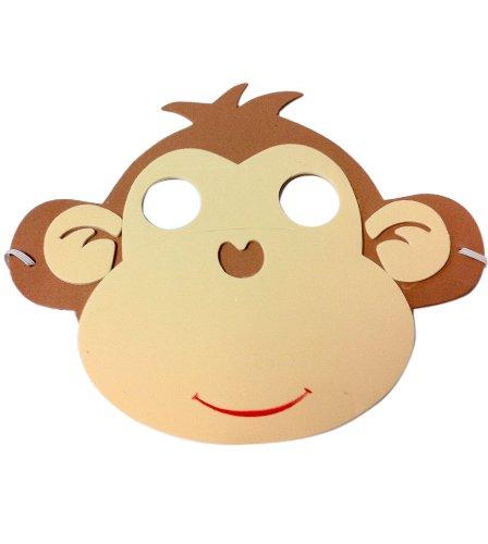 Party Pro 871200Maske Kind Monkey Eva, Mehrfarbig