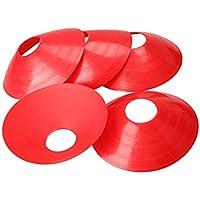 VORCOOL Conos de Disco de fútbol de fútbol 20 Piezas para Entrenamiento físico (Rojo)