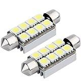 2x C5W 8 LED 5050 SMD NAVETTE 42MM BLANC Ampoule ANTI SANS ERREUR ODB Plafonnie