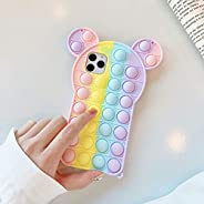 Moreup Pop Phone Case for iPhone 6 7 8 Plus X XS XR Max 11 11 PRO 12 12 Pro Max | Push Pop Bubble Fidget Toys